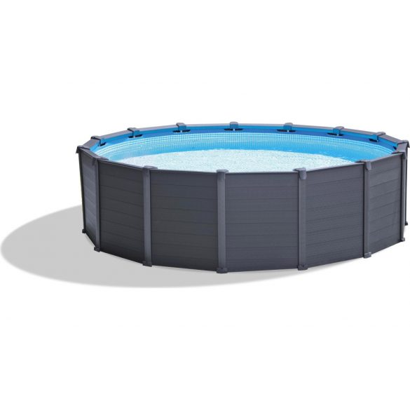 INTEX Graphite Gray Pool medence D4,78m x 124cm (homokszűrővel) (26384)