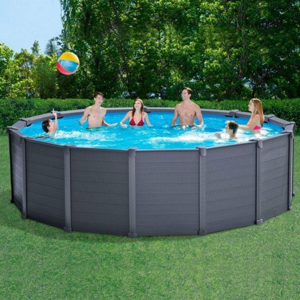 INTEX Graphite Gray Pool medence 478 x 124 cm (homokszűrővel) (26384) 2020-as modell