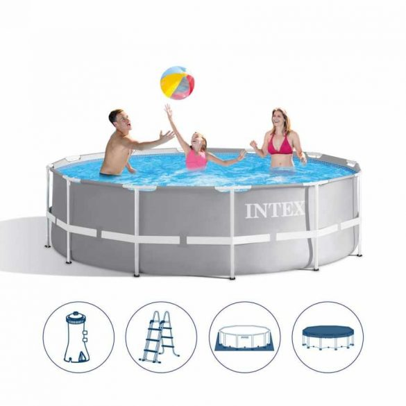 INTEX MetalPrism Set medence 457 x 107 cm (26724) 2020-as modell