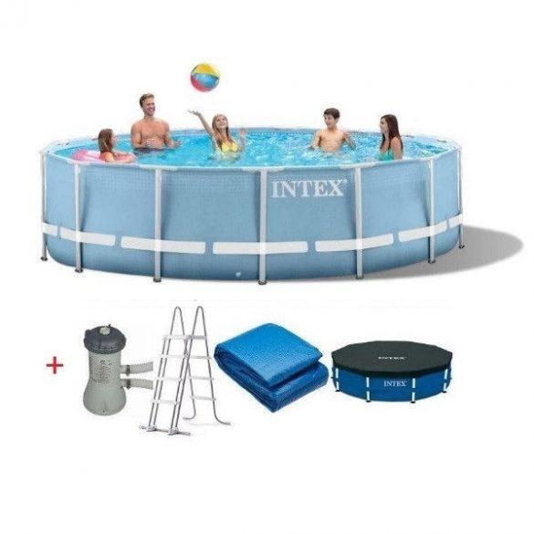 INTEX MetalPrism Set medence D4,57m x 107cm (26724)