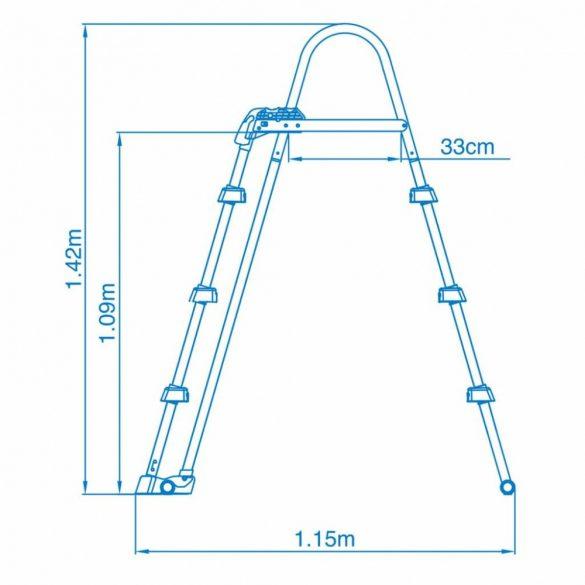 INTEX Biztonsági medence létra 3 fokos 91-107cm magas medencékhez (28075)