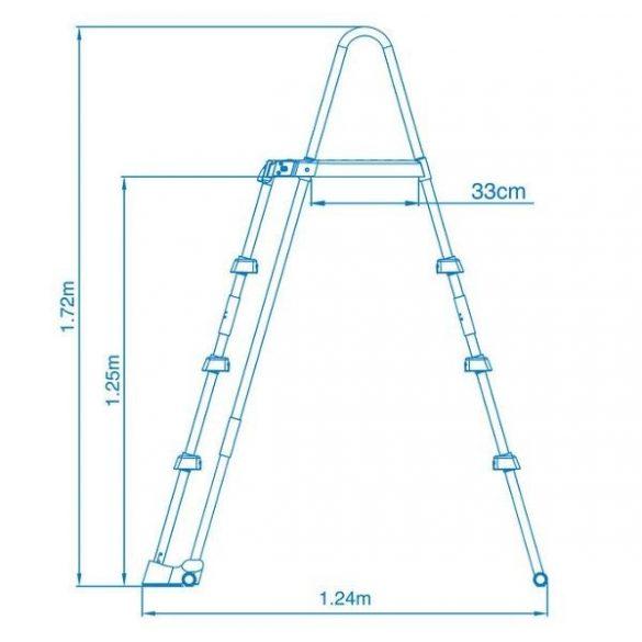 INTEX Biztonsági medence létra 3 fokos 122cm magas medencékhez (28076)