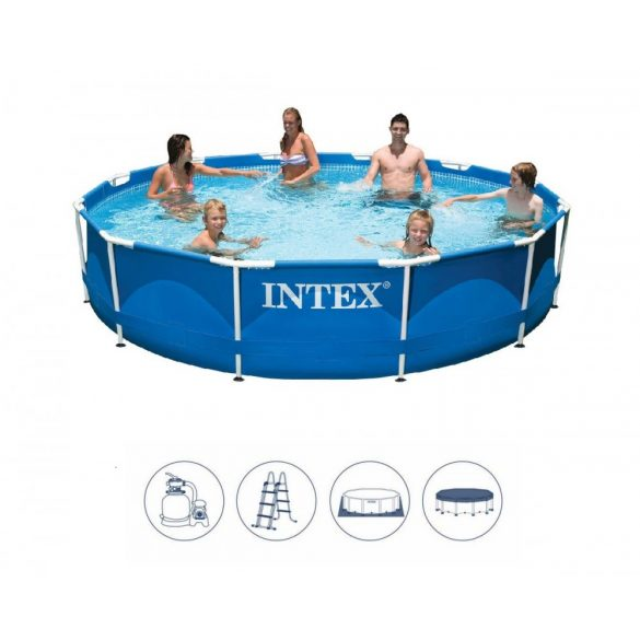 INTEX MetalSet medence D4,57m x 84cm homokszűrővel (28240H)