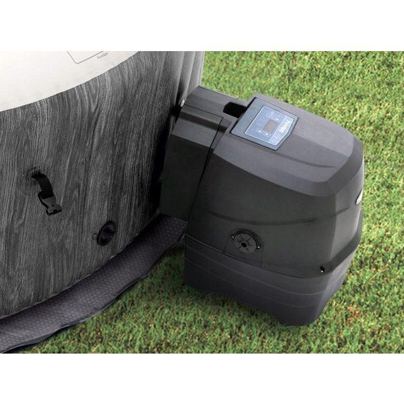 INTEX PureSPA Greywood Deluxe jacuzzi, 4 személyes, kerek, D196 x 71 cm, szürke / fehér (28440)