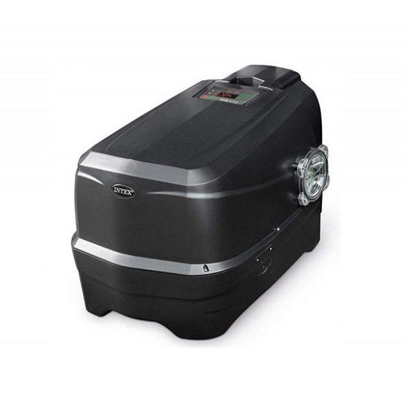 INTEX PureSPA Onyx Black Octagon jacuzzi, sóbontó készülékkel, 4 személyes, D201 x 71 cm, fekete / fehér (28458)
