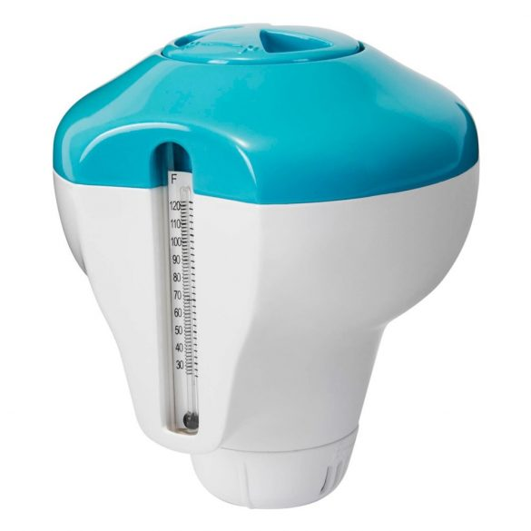 INTEX 2in1 úszó MINI vegyszer adagoló és hőmérő medencéhez (29043)