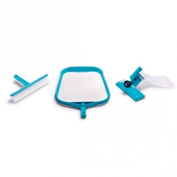 INTEX medence tisztító szett, fölöző háló, ventúri porszívófej, kefe (29056)