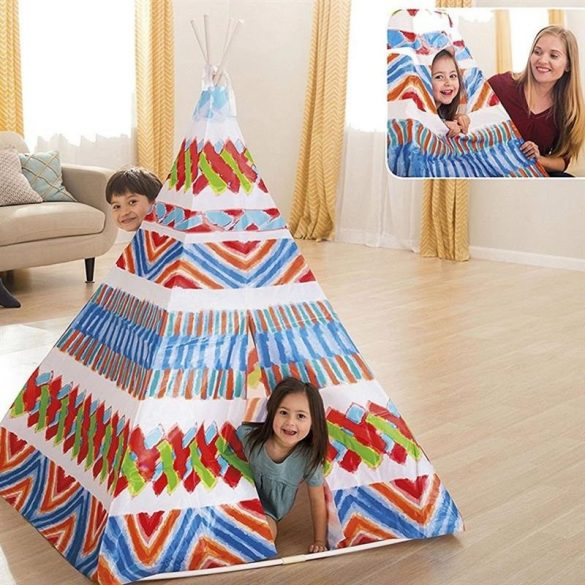 INTEX Teepee Play Tent sátor 122 x 122 x 157 cm (48629)