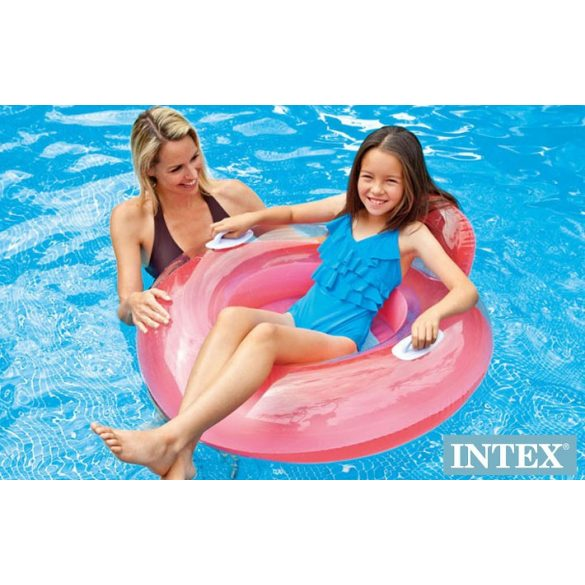 INTEX Candy Color Lounge rószaszín úszógumi D102cm (56512)