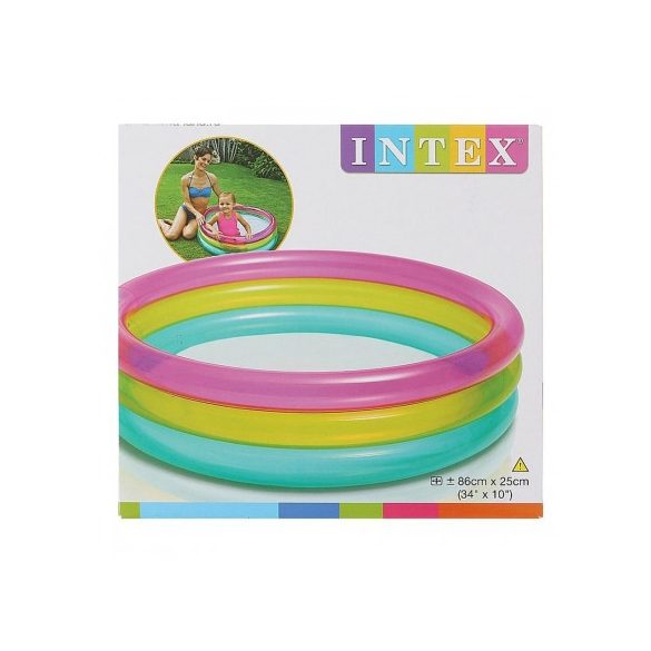 INTEX Rainbow Baby medence 86 x 25cm (57104)