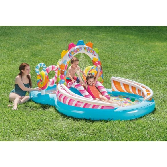 INTEX Candy Zone élménymedence 295 x 191 x 130cm (57149)