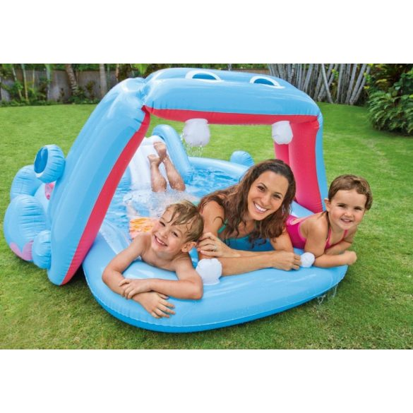 INTEX Hippo Play Center élménymedence 221 x 188 x 86cm (57150)