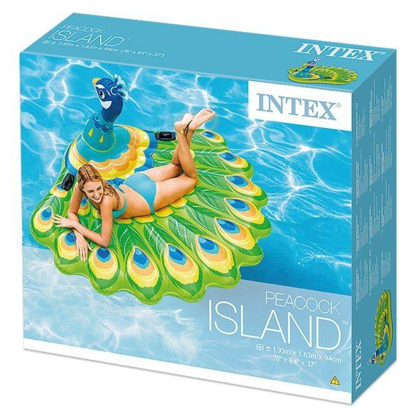 INTEX Peacock úszó sziget páva 193 x 163 x 94cm (57250)
