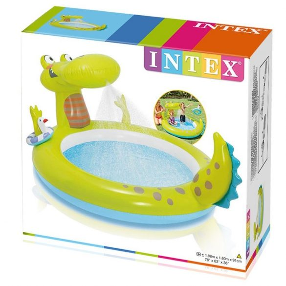 INTEX Gator Spray élménymedence 198 x 160 x 91cm (57431)