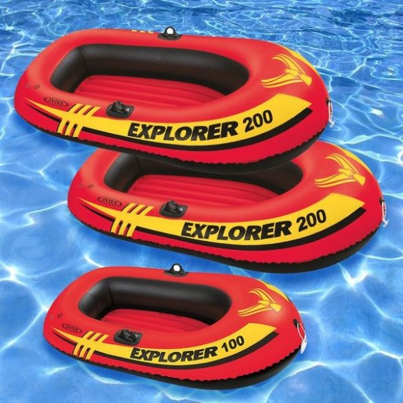 INTEX Explorer Pro 200 felfújható gumicsónak szett (2 személyes) 196 x 102 x 33cm (58357)