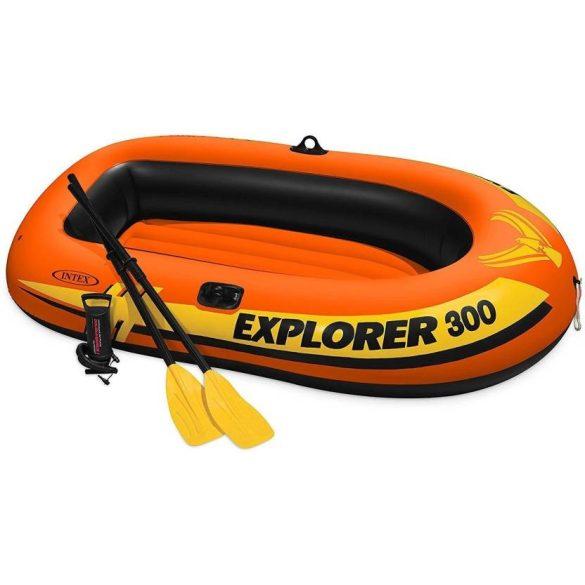 INTEX Explorer Pro 300 felfújható gumicsónak szett (3 személyes) 244 x 117 x 36cm (58358)