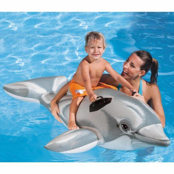 INTEX felfújható szürke delfin 175 x 66cm (58535)