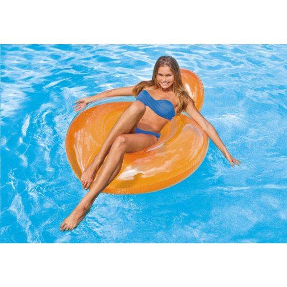 INTEX Pillow Back Lounge narancssárga úszógumi D119cm (58889)