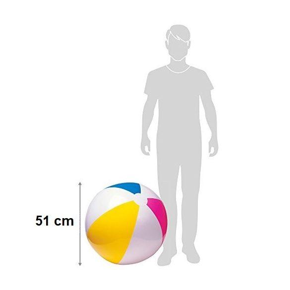 INTEX strandlabda piros/sárga/kék D51cm (59020)