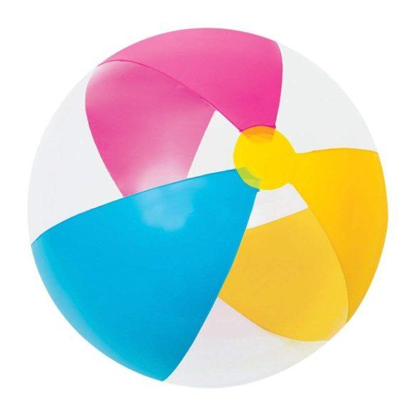 INTEX strandlabda rózsaszín/sárga/világoskék D61cm (59032)