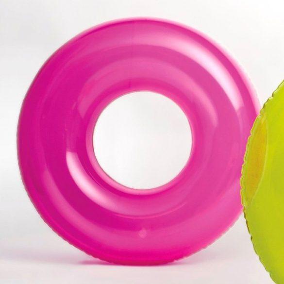 INTEX átlátszó rózsaszín úszógumi D76cm (59260)