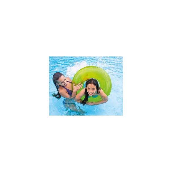 INTEX átlátszó zöld úszógumi D76cm (59260)