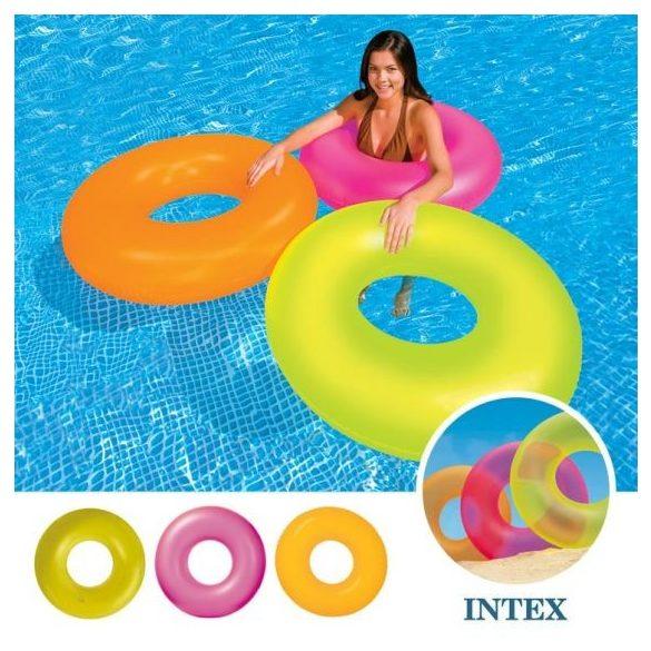 INTEX Neon Frost matt narancssárga úszógumi D91cm (59262)