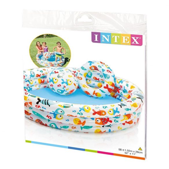 INTEX Fishbowl medence set 132 x 28cm (59469)