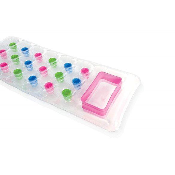 INTEX lyukacsos átlátszó/rózsaszín gumimatrac 188 x 71cm (59894)
