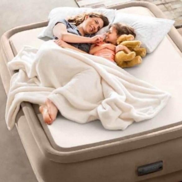 INTEX PremAire Thermalux felfújható luxus vendégágy, 152 x 203 x 51cm (64478)