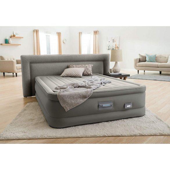 INTEX PremAire Dream Support felfújható luxus vendégágy, 153 x 203 x 46cm (64770)