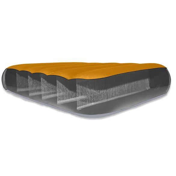 INTEX Super-Tough felfújható matrac, narancssárga/szürke, 76 x 183 x 10cm (64791)