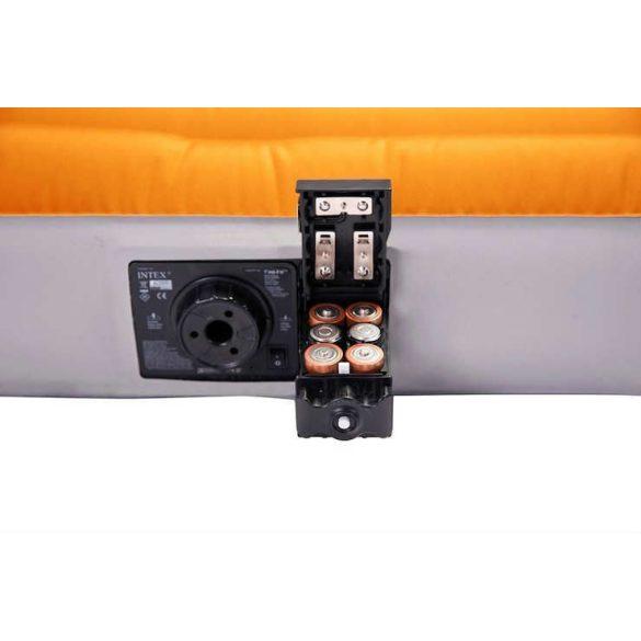INTEX Super-Tough felfújható kemping matrac, narancssárga/szürke, 76 x 183 x 10cm (64791)
