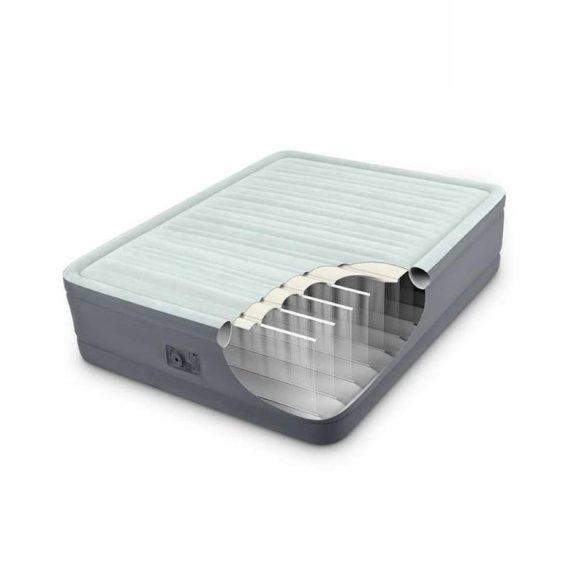INTEX PremAire felfújható luxus vendégágy, 153 x 203 x 46cm (64906)