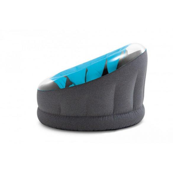 INTEX Empire felfújható fotel, kék/fekete, 112 x 109 x 69cm (66582)