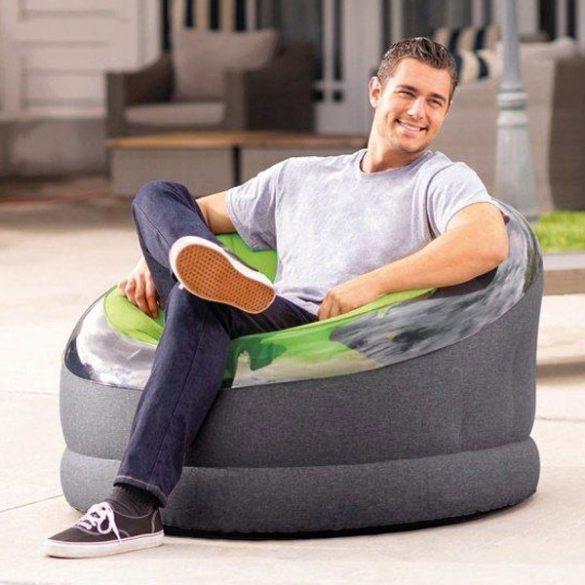 INTEX Empire felfújható fotel, zöld/fekete, 112 x 109 x 69cm (66582)