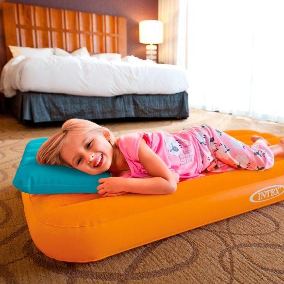 INTEX Cozy Kidz felfújható matrac, narancssárga, 88 x 157 x 18cm. (66801)
