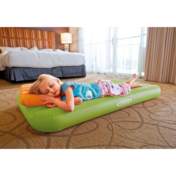 INTEX Cozy Kidz felfújható matrac, zöld, 88 x 157 x 18cm. (66801)