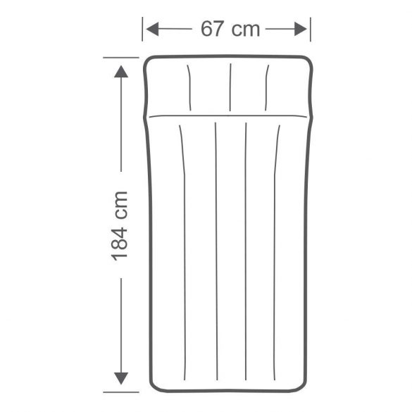 INTEX felfújható kemping matrac, szürke/kék, 67 x 184 x 17cm (67997)