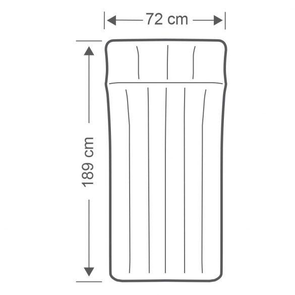 INTEX felfújható kemping matrac, szürke/kék, 72 x 189 x 20cm (67998)