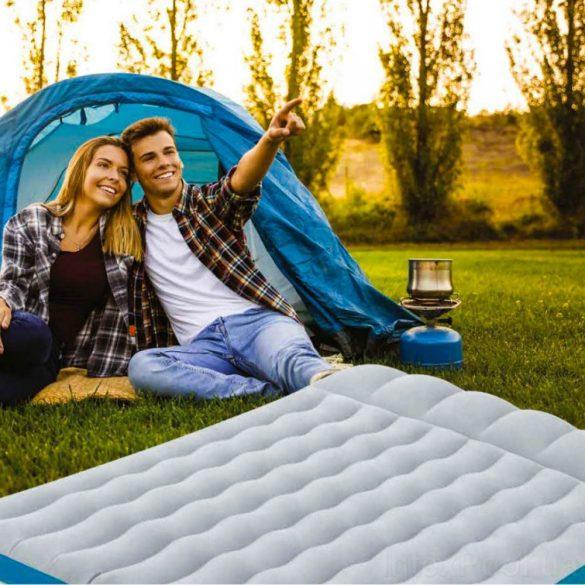 INTEX felfújható kemping matrac, szürke/kék, 127 x 193 x 24cm (67999)