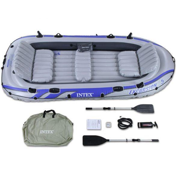 INTEX Excursion 5 felfújható gumicsónak szett (5 személyes) 366 x 168 x 43cm (68325)