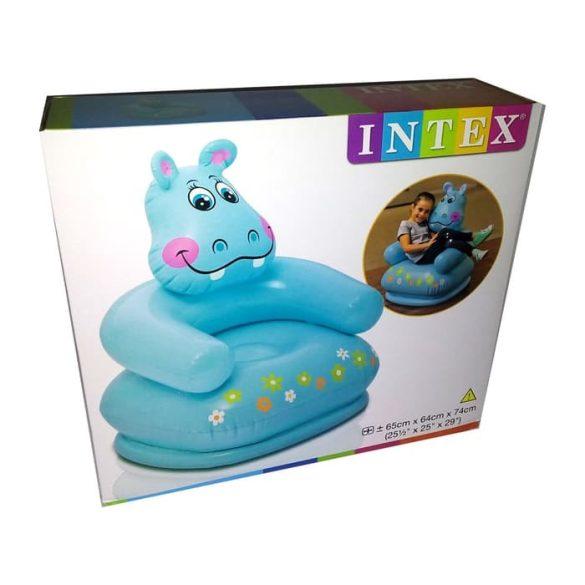 INTEX felfújható gyermekfotel víziló (68556)