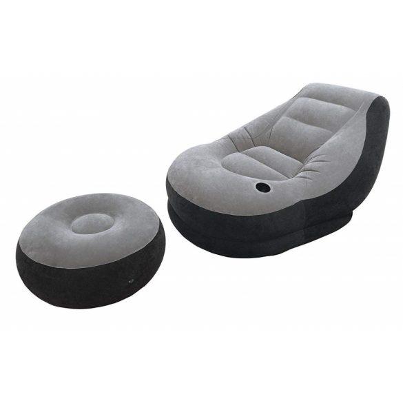 INTEX Ultra Lounge felfújható fotel, lábtartóval, 99 x 130 x 76cm (68564)