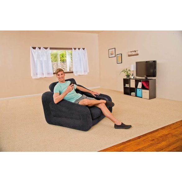 INTEX Pull-Out felfújható, átalakítható fotel ágy, 107 x 221 x 66cm (68565)