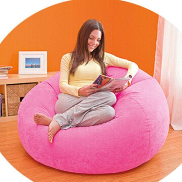 INTEX Beanless felfújható fotel, magenta, 107 x 104 x 69cm (68569)