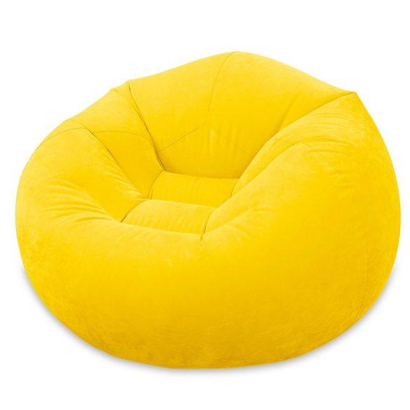 INTEX Beanless felfújható fotel, sárga, 107 x 104 x 69cm (68569)