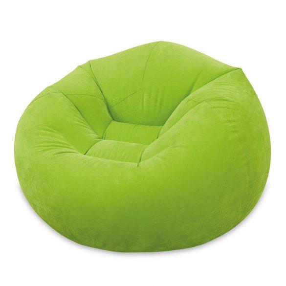 INTEX Beanless felfújható fotel, zöld, 107 x 104 x 69cm (68569)