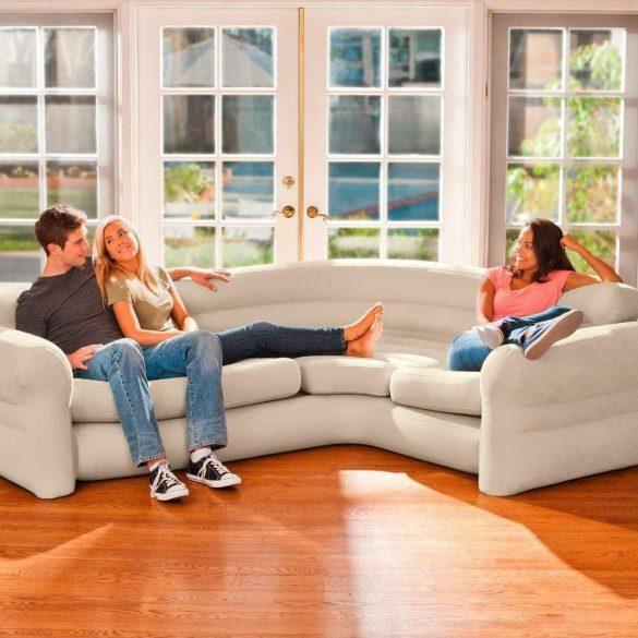 Intex Corner Sofa, felfújható sarokágy, bézs (68575)