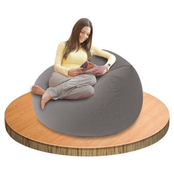 Intex Beanless felfújható fotel, szürke 107 x 104 x 69cm (68579)